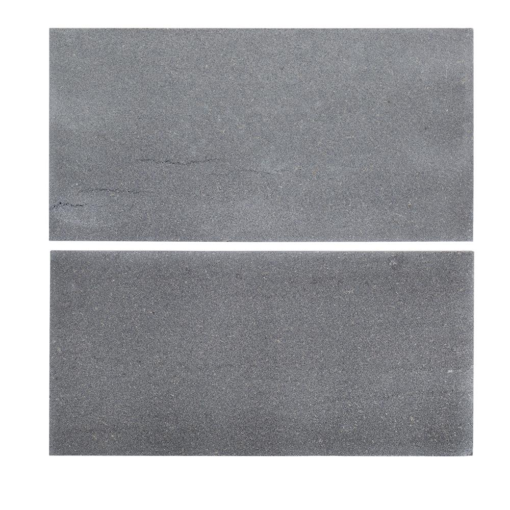 Gray natural stone tile tile the home depot honed basalt field wall tile 2 pieces dailygadgetfo Gallery