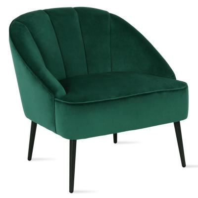 Cade Green Channel Back Accent Chair
