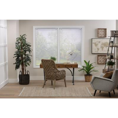 Cut-to-Width White Cordless Room Darkening Premium Vinyl Blinds with 2 in. Slats 31 in. W x 64 in. L