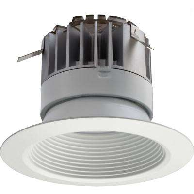 4 in. White Integrated LED Recessed Baffle Kit