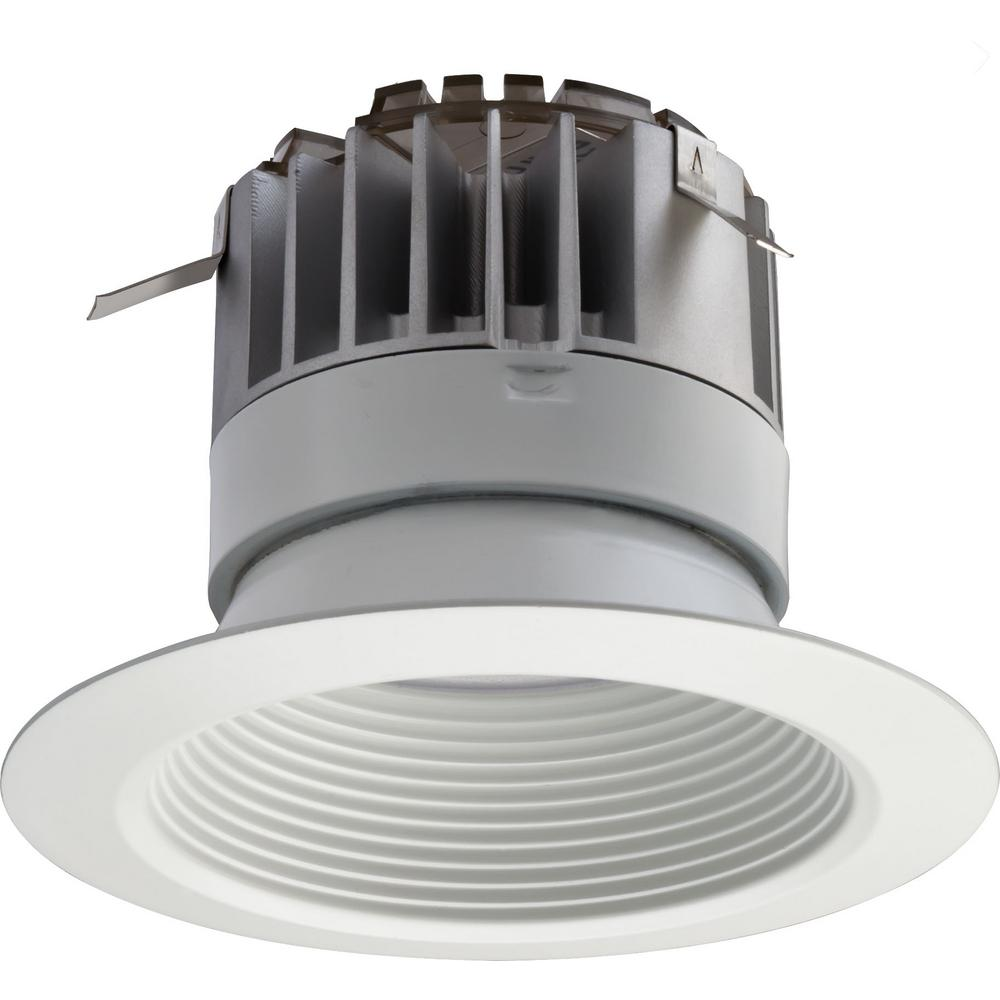 Lithonia lighting 4 in white integrated led recessed baffle kit lithonia lighting 4 in white integrated led recessed baffle kit mozeypictures Image collections