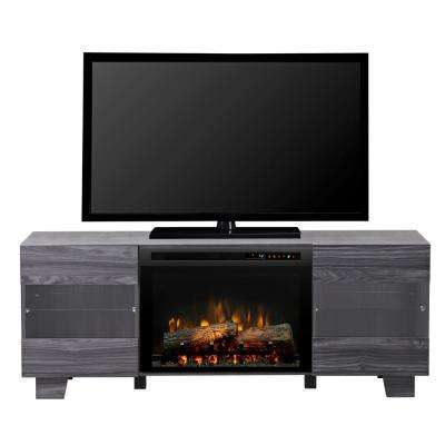 Max 62 in. Freestanding Electric Fireplace TV Stand Media Console in Carbon