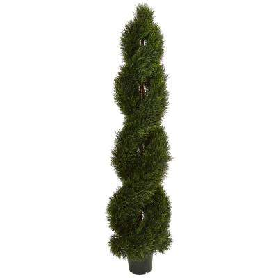 UV Resistant Indoor/Outdoor Double Pond Cypress Spiral Topiary