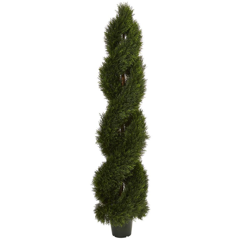 UV Resistant Indoor/Outdoor Double Pond Cypress Spiral Topiary
