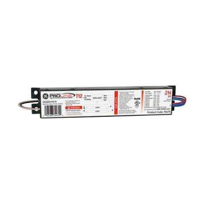 120 to 277-Volt Electronic Ballast for 8 ft. 2-or 1-Lamp T12 Fixture