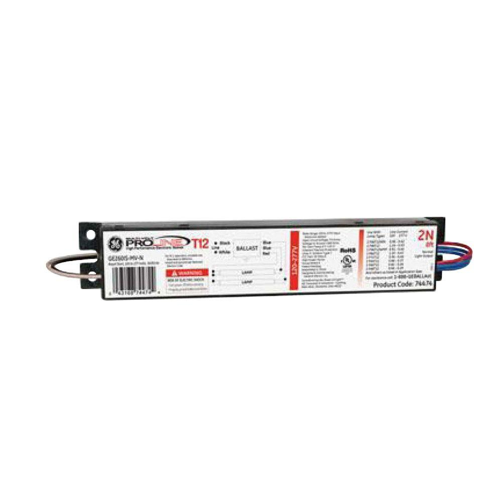 GE 120 to 277-Volt Electronic Ballast for 8 ft. 2-or 1-Lamp T12 ...