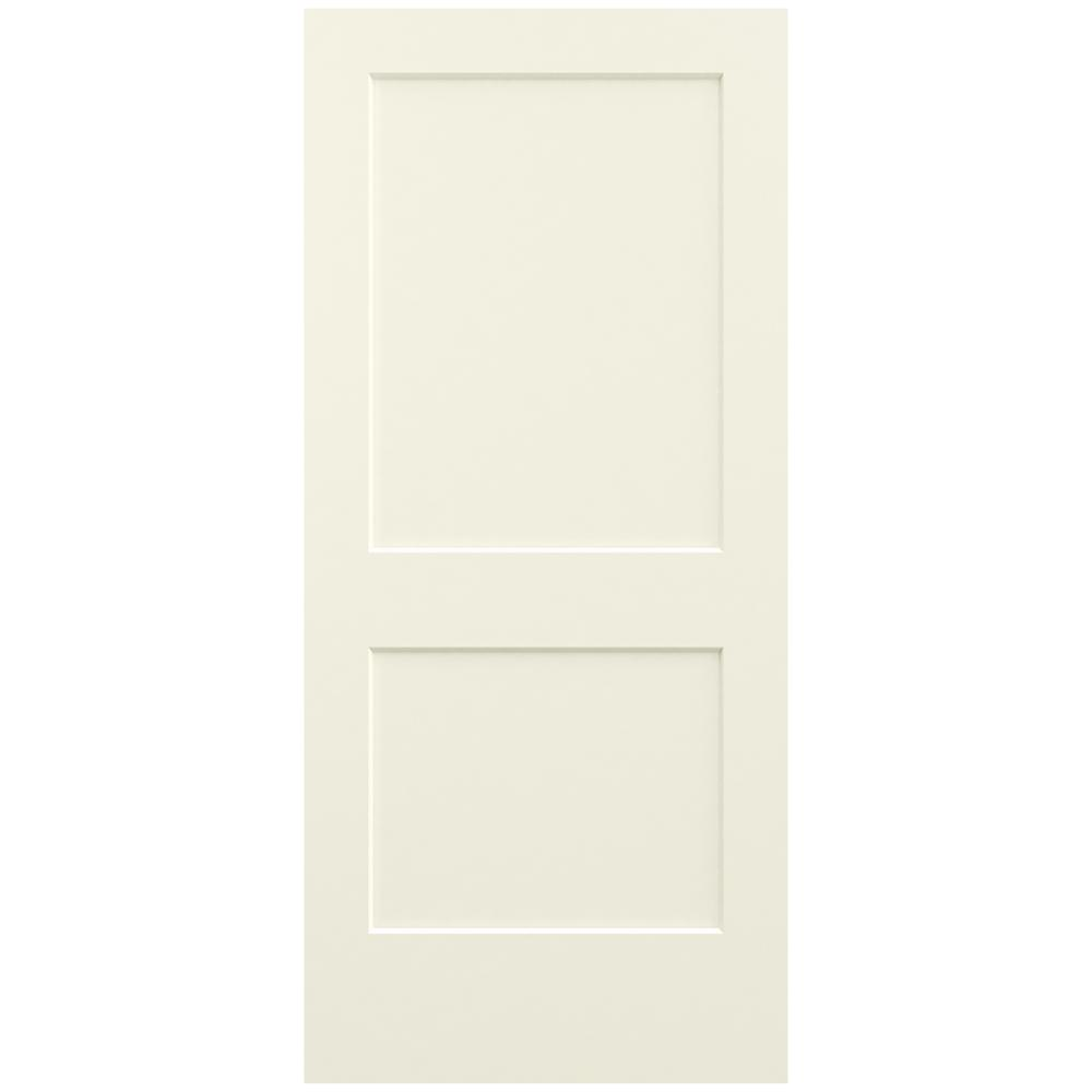 Jeld Wen 36 In X 80 In Monroe Vanilla Painted Smooth Solid Core Molded Composite Mdf Interior
