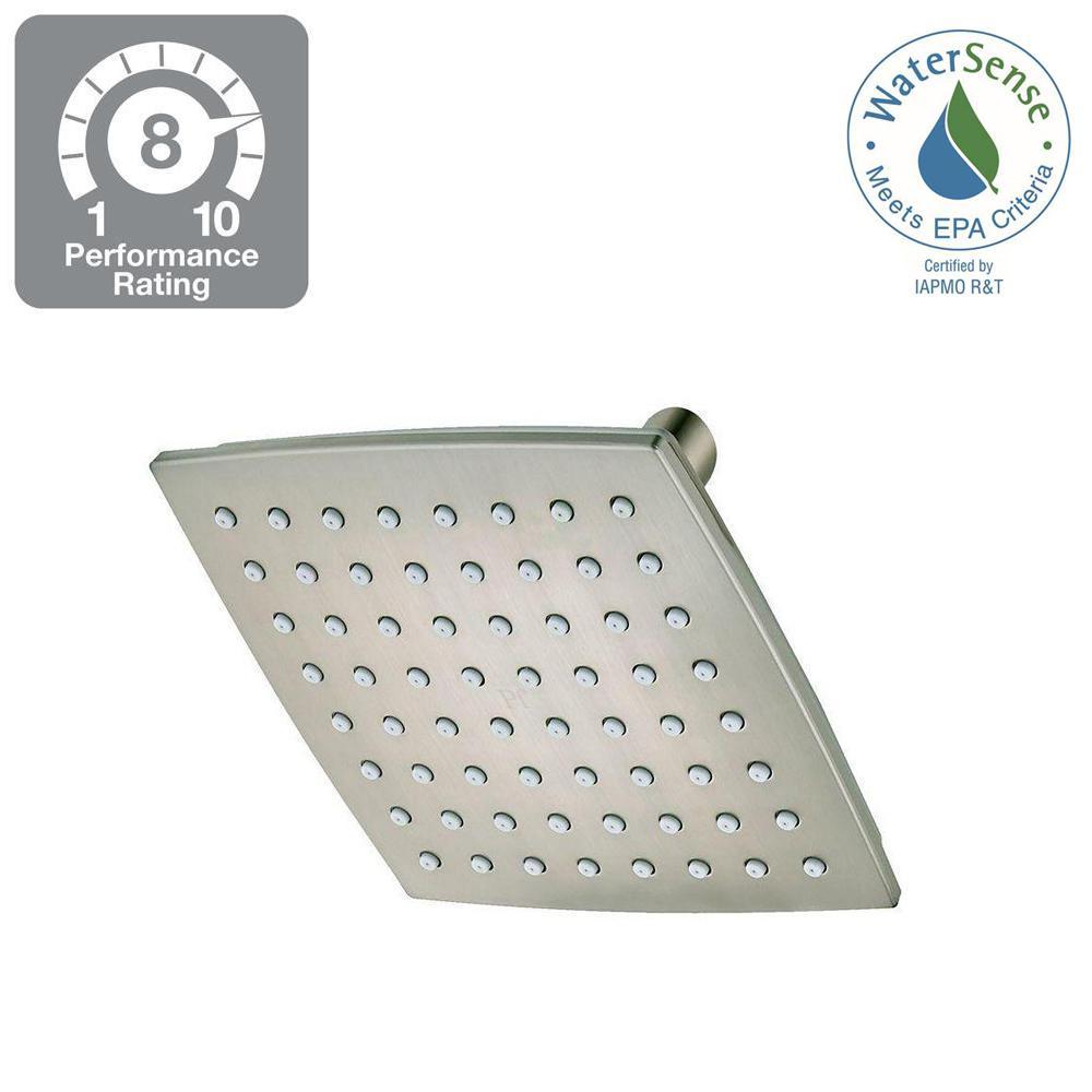 Venturi 1-Spray 5.69 in. Square Shower Head in Brushed Nickel