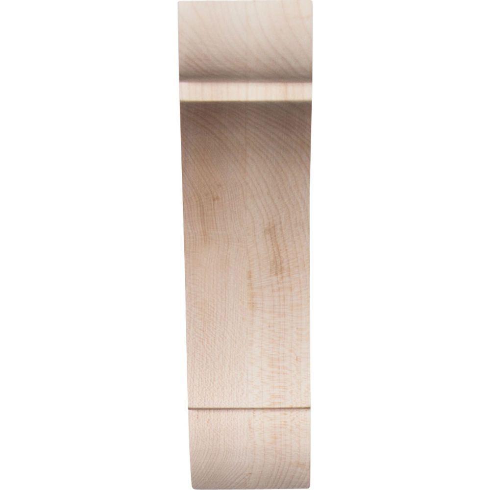 Ekena Millwork BKTW01X10X10OLWA-CASE-4 1 3//4 W D x 10 H Large Olympic Wood Bracket 4-Pack x 10 D x 10 Piece Walnut