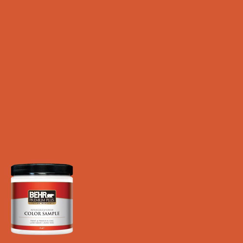 BEHR Premium Plus 8 oz. #S-G-220 Sweet Mandarin Interior/Exterior Paint Sample