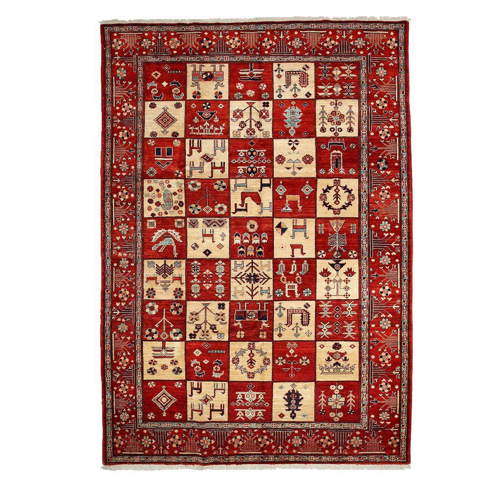 darya rugs traditional red 7 ft x 10 ft indoor area rug. Black Bedroom Furniture Sets. Home Design Ideas