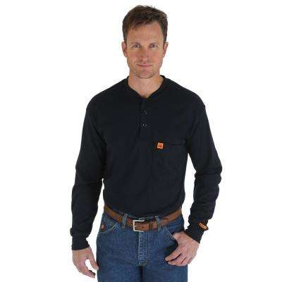Men's Size 2X-Large Navy Henley
