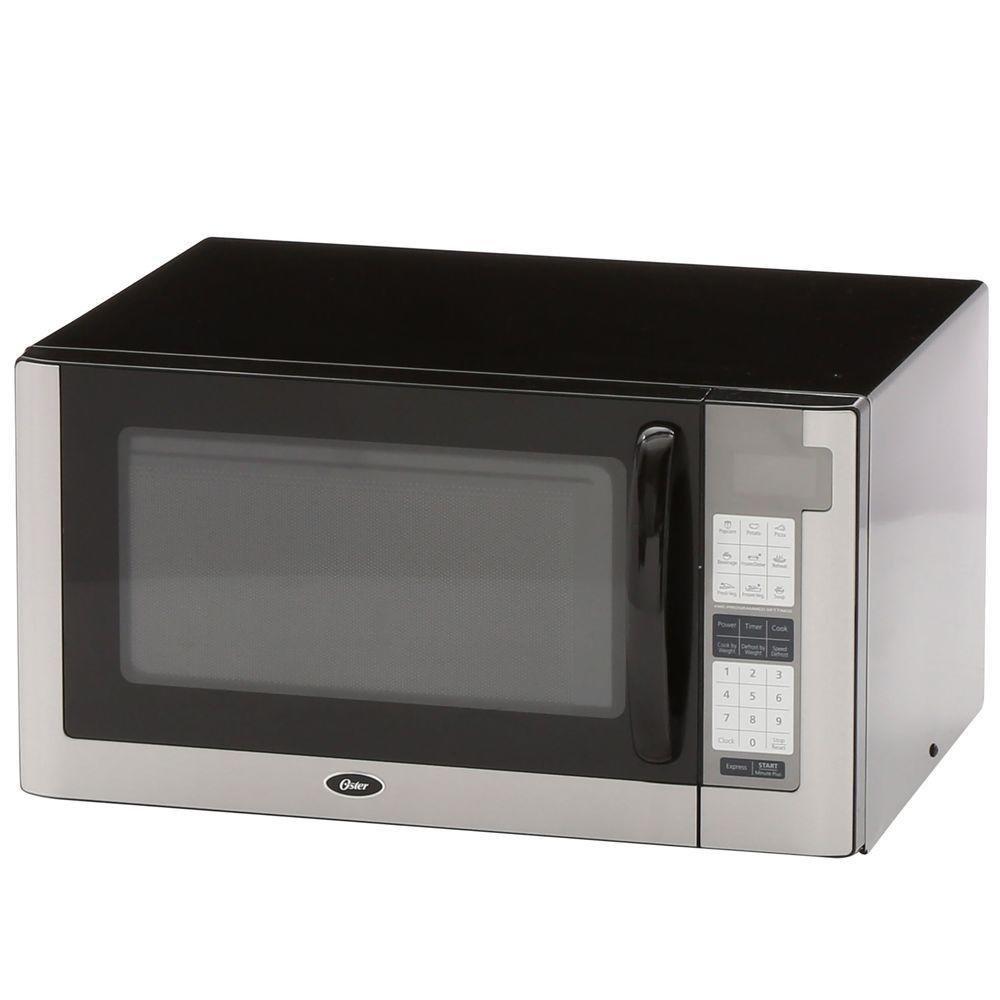 Oster 1.4 cu. ft. 1200-Watt Countertop Microwave in Black...