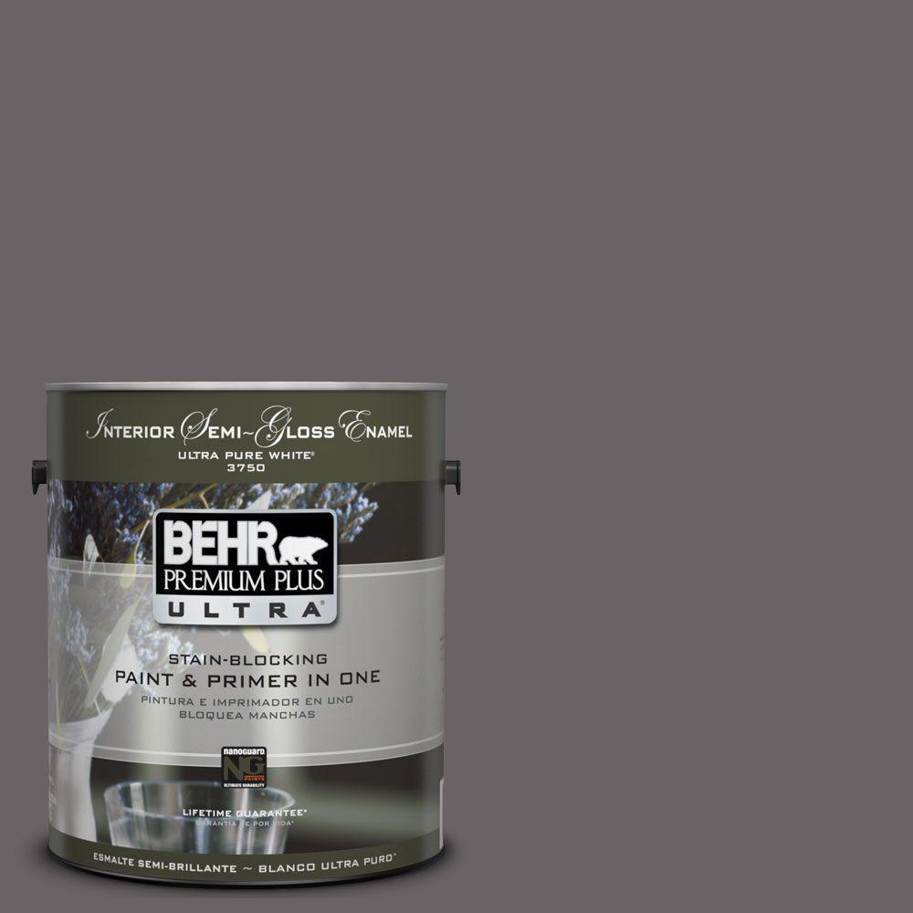 BEHR Premium Plus Ultra 1-gal. #UL250-1 Arabian Veil Interior Semi-Gloss Enamel Paint