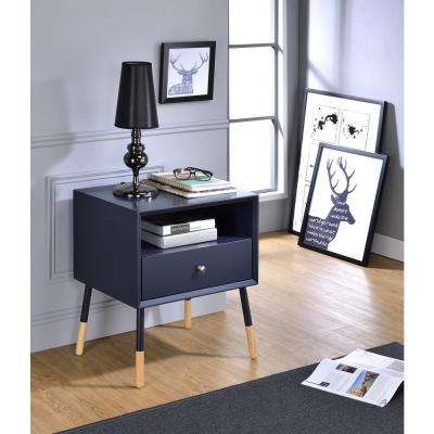 Sonria II End Table in Black and Natural