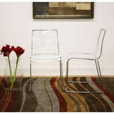 Lino Clear Acrylic Dining Chairs (Set of 2)