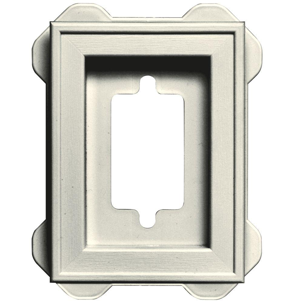 Builders Edge 4.5 in. x 6.3125 in. #034 Parchment Recessed Mini Mounting Block