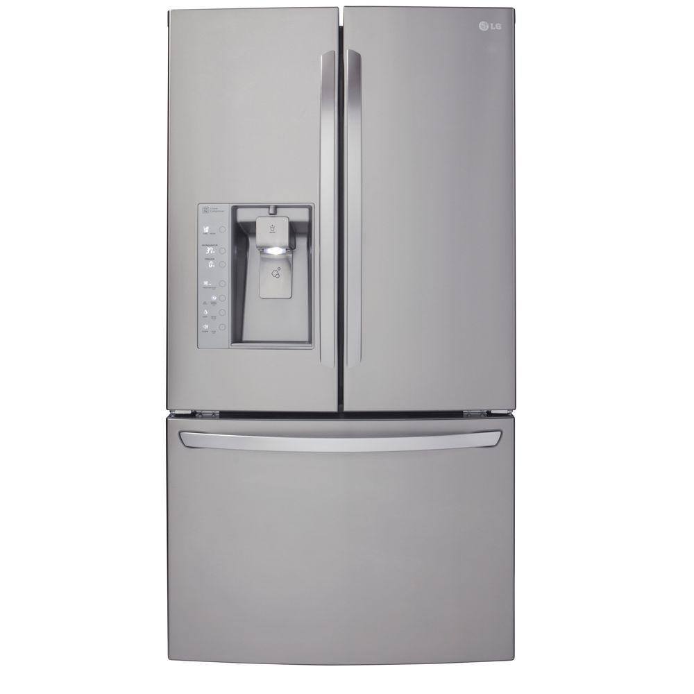 Attirant French Door Refrigerator In Stainless Steel, Counter Depth