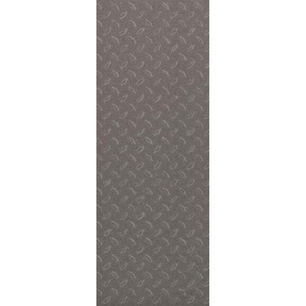 TrafficMASTER Allure Commercial 12 in. x 36 in. Stamped Steel Silver Vinyl Flooring (24 sq. ft. / case)
