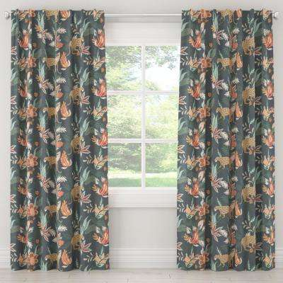 50 in. W x 63 in. L Blackout Curtain in Venya Safari Navy