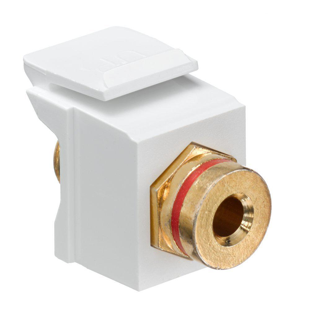 Leviton QuickPort Banana Jack Gold-Plated Connector with ...