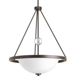 Progress Lighting Compass Collection 3-Light Antique Bronze Foyer Pendant with Opal Etched... by Progress Lighting