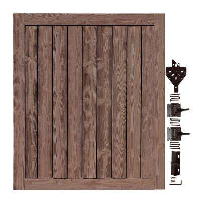5 ft. W x 6 ft. H Ashland Red Cedar Composite Privacy Fence Gate