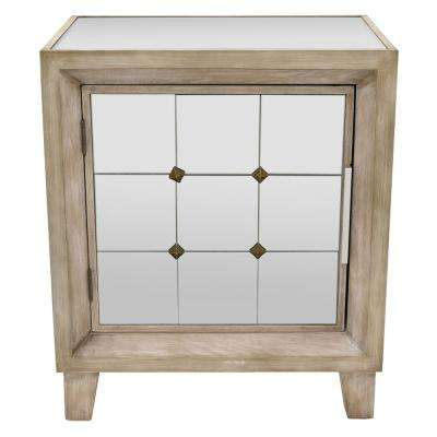 23.25 in. White Wood Cabinet with 1-Door