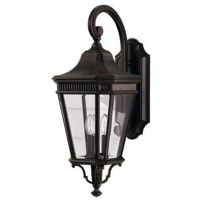 Cotswold Lane 3-Light Grecian Bronze Outdoor Wall Lantern