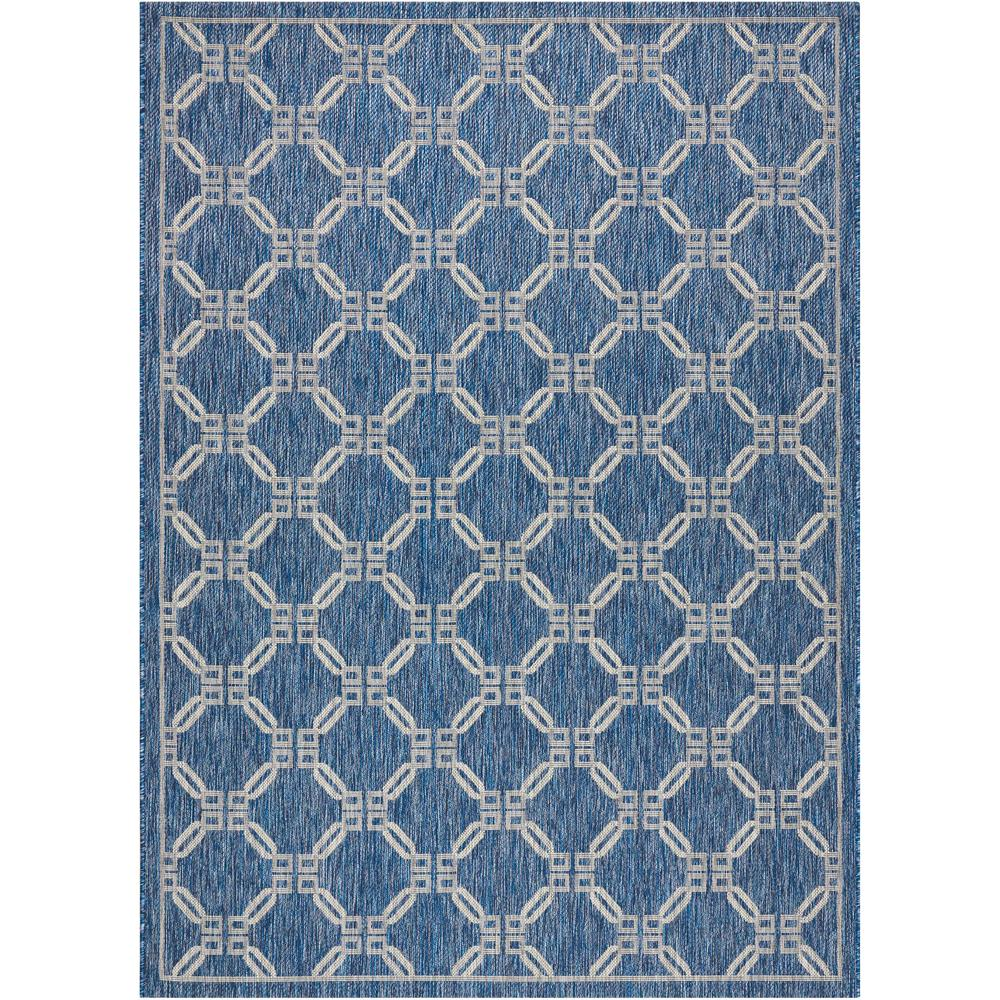 nourison country side denim 5 ft x 7 ft indoor outdoor area rug