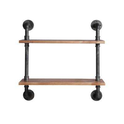 Allentown 23.6 in. W x 7.9 in. D Black Piping Decorative Shelf