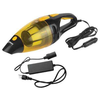 12-Volt Corded Cyclone Auto Handheld Vacuum with AC to DC Power Adapter