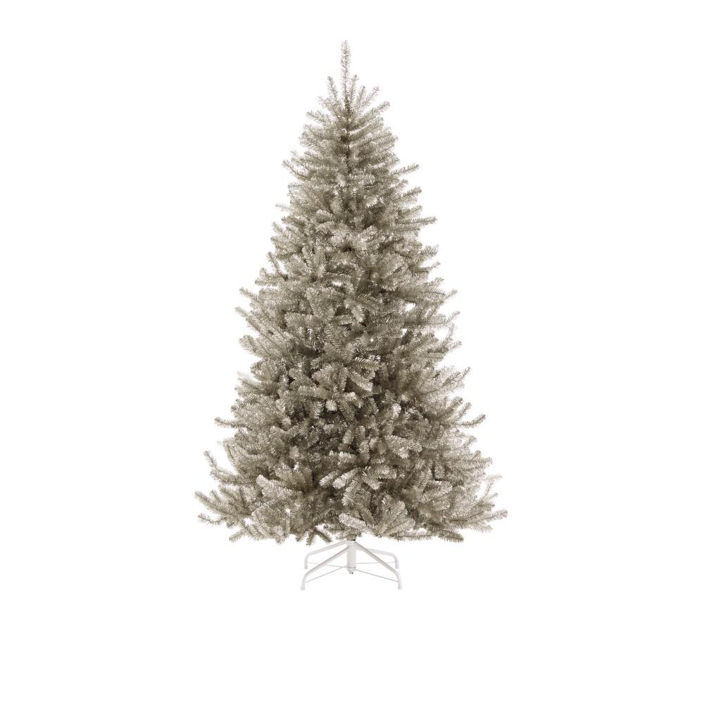 7.5 ft. Sterling Tinsel Silver Champagne Artificial Mixed Christmas Tree