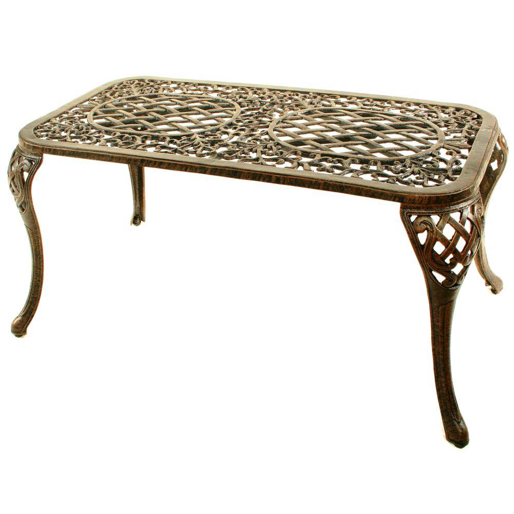 Oakland living mississippi patio cocktail table 2007 ab the home depot Patio coffee tables