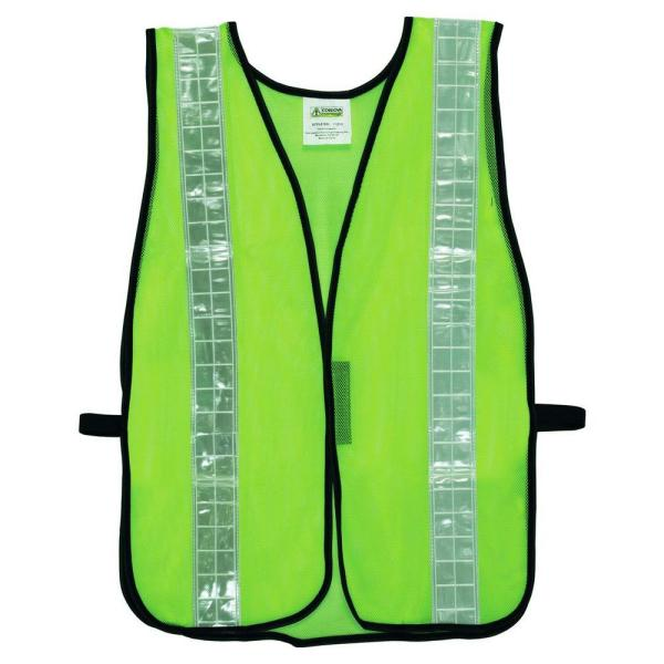 High Visibility Lime Green Mesh Safety Vest (One Size Fits All)