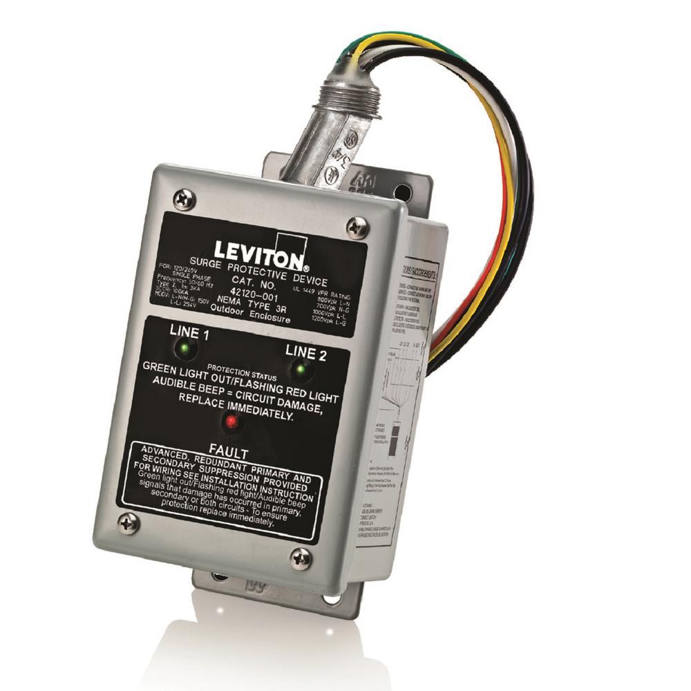 120/240-Volt-Single Phase Enhanced Noise Filtering Module Surge Protective Panel, Gray
