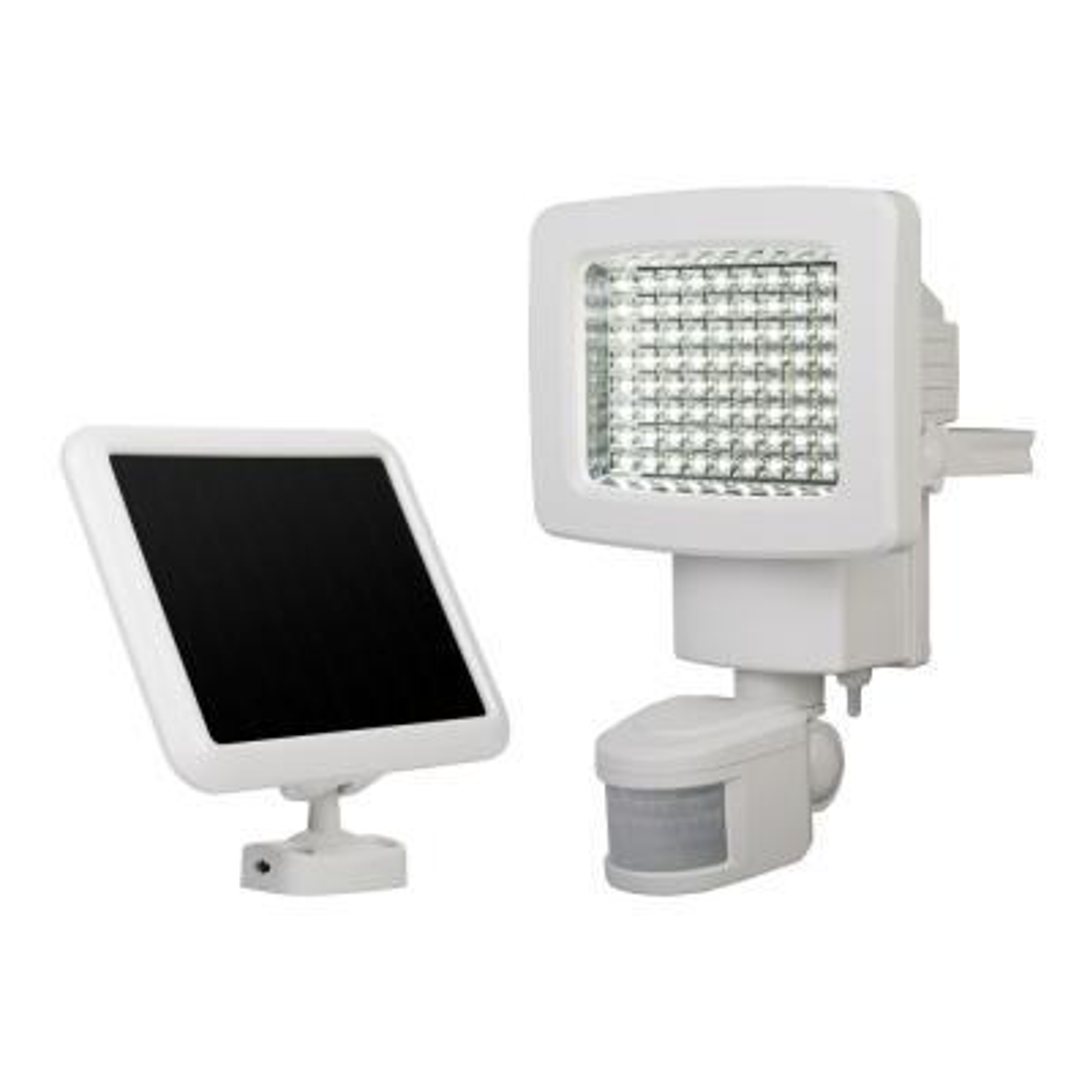 White Outdoor Solar 80-LED Motion Light