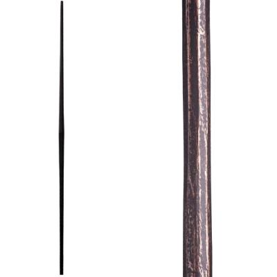 Tuscan Round Hammered 44 in. x 0.5625 in. Oil Rubbed Bronze Plain Tapered Bar Solid Wrought Iron Baluster