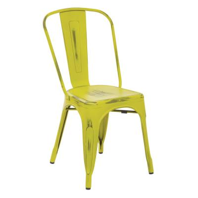 Bristow Antique Lime Armless Metal Chair (4-Pack)