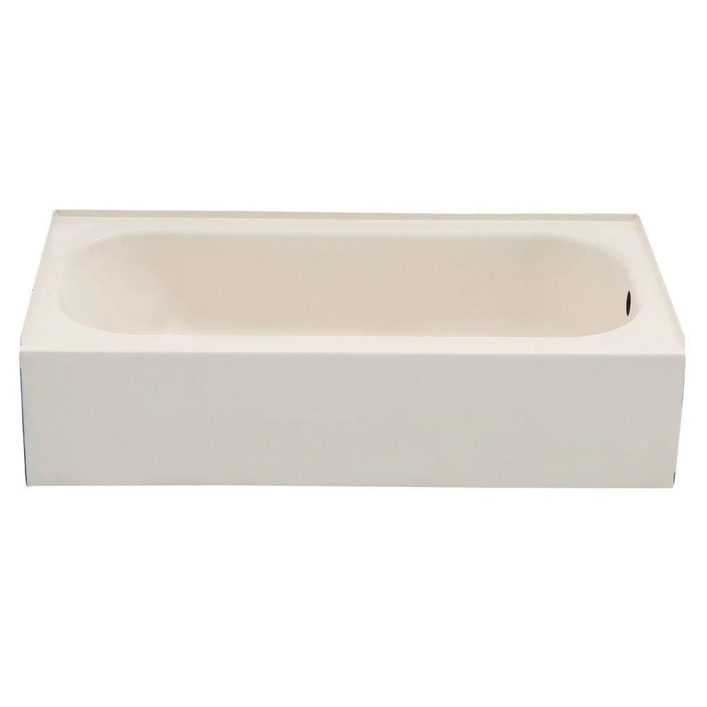 Bootz Industries BootzCast 5 ft. Right Drain Soaking Tub in Biscuit ...