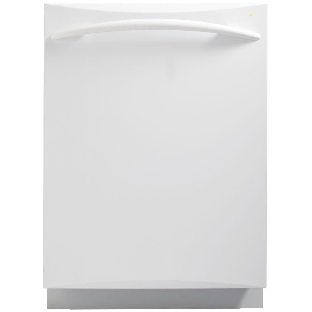 GE Profile 24 in. Top Control Dishwasher in White with Stainless Steel Tub