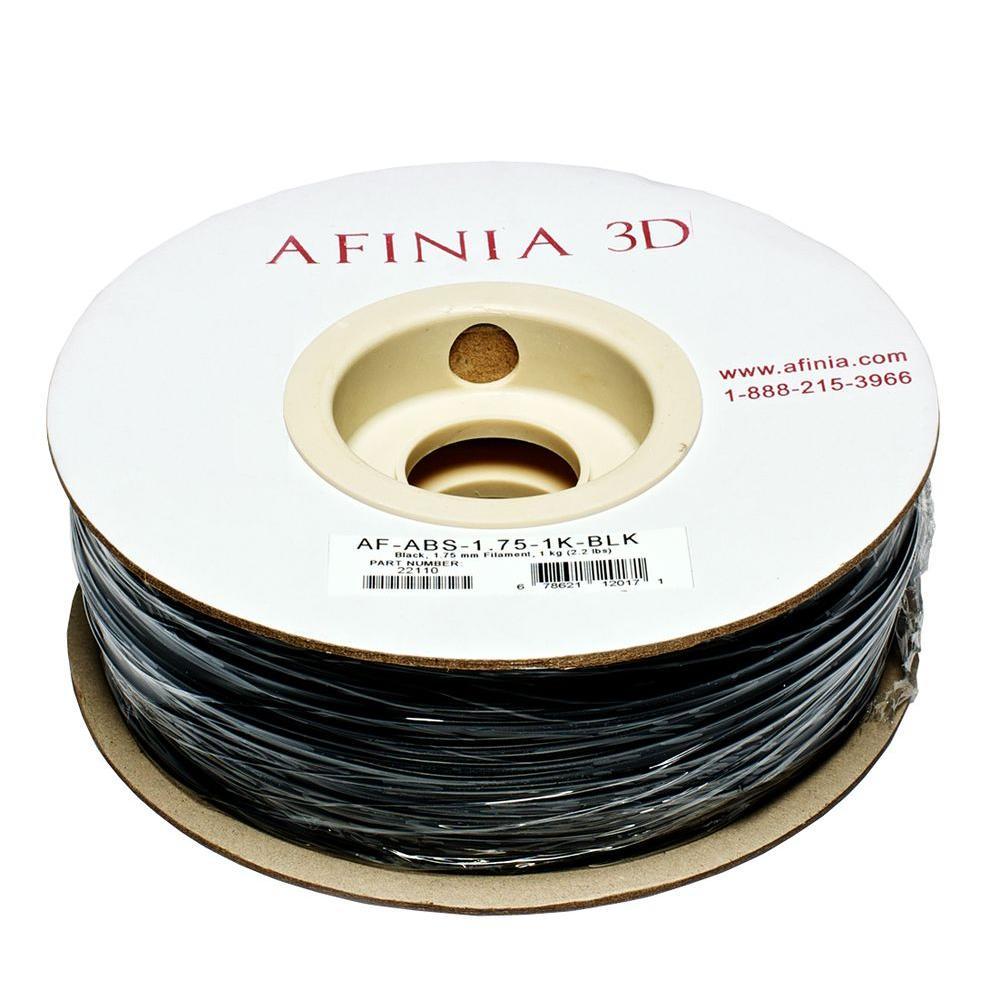 Value-Line 1.75 mm Black ABS Plastic 3D Printer Filament (1kg)