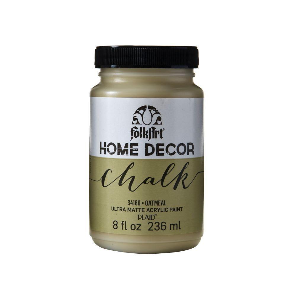 Home Decor 8 oz. Oatmeal Ultra-Matte Chalk Finish Paint