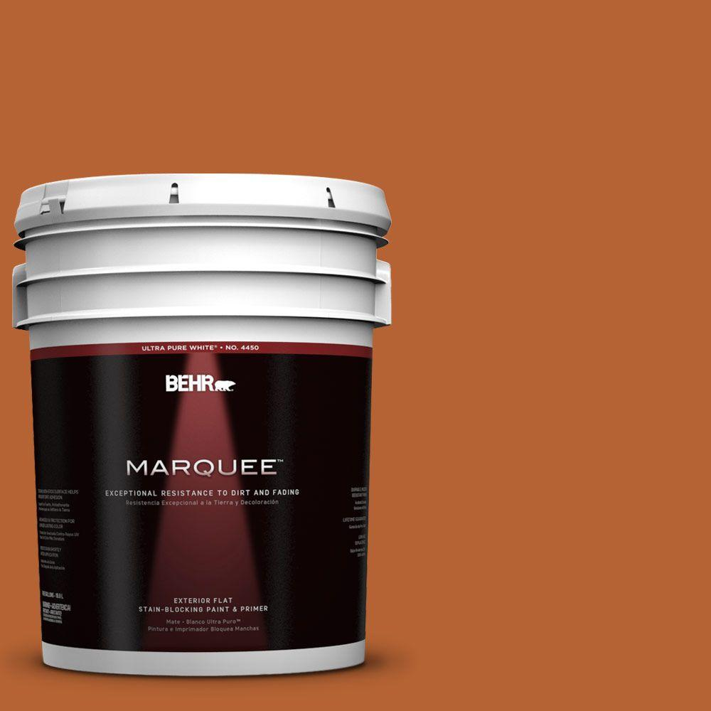 BEHR MARQUEE 5-gal. #250D-7 Caramelized Orange Flat Exterior Paint