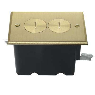 Slater 1-Gang Dark Bronze Floor Box with Duplex Outlet