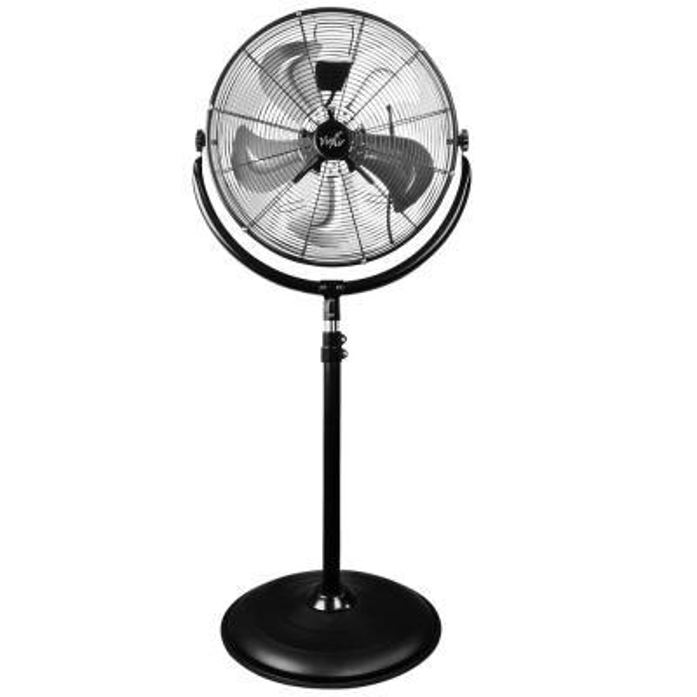 20 in. Adjustable Height Pedestal Industrial Drum Fan With 360 Degree Tilt