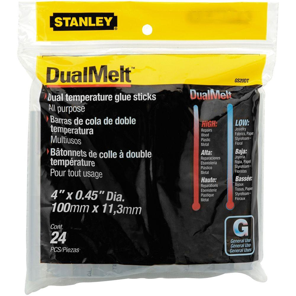 Stanley 4 in. Dual Temperature Glue Sticks (24-Pack)