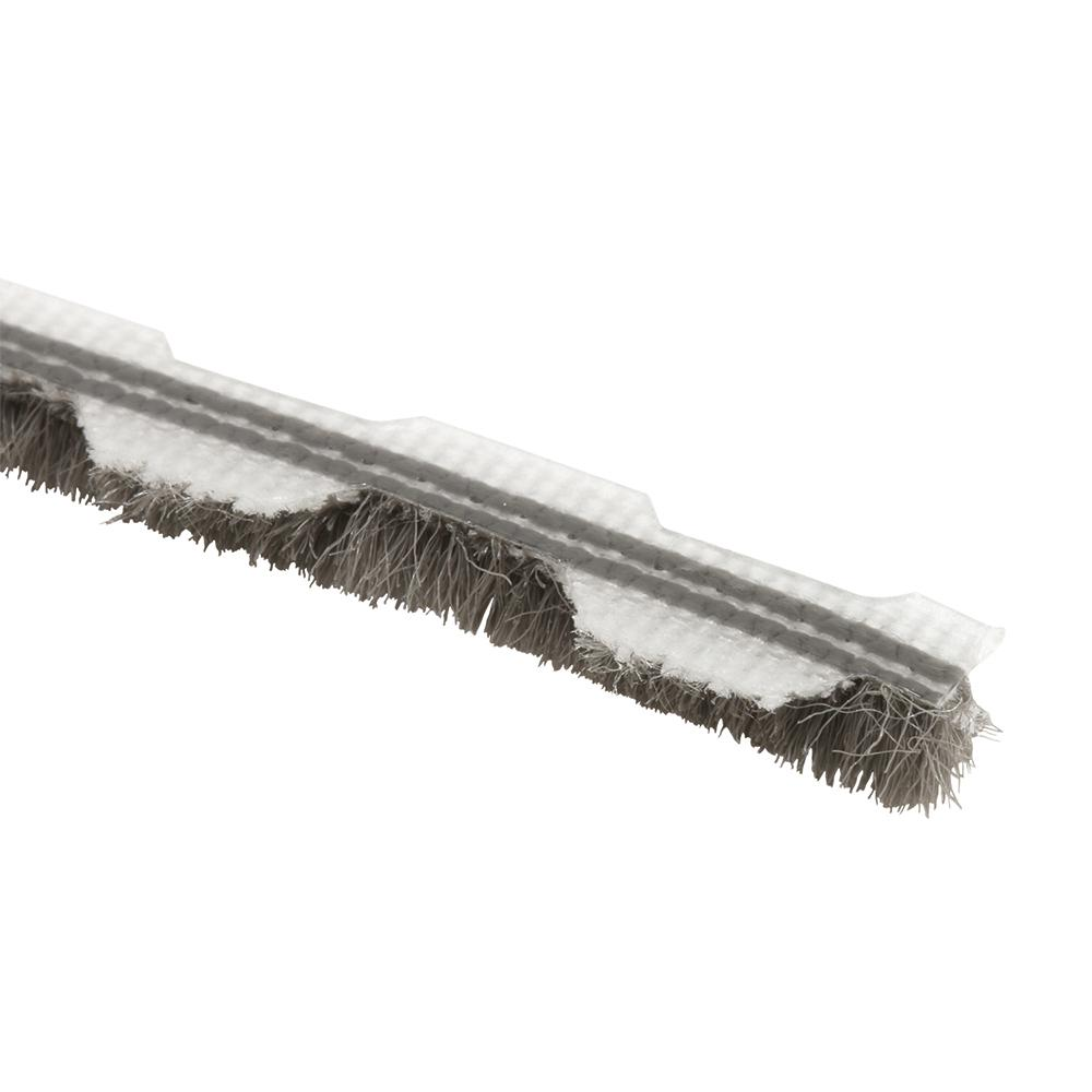 Prime Line 1 4 In Gray Wool Pile Weatherstrip 18 Ft T 8659 The Home Depot