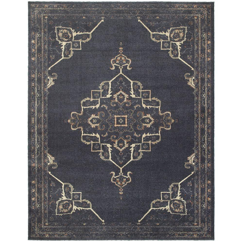 Home decorators collection antiquity blue 7 ft 10 in x for Home decorators rugs blue