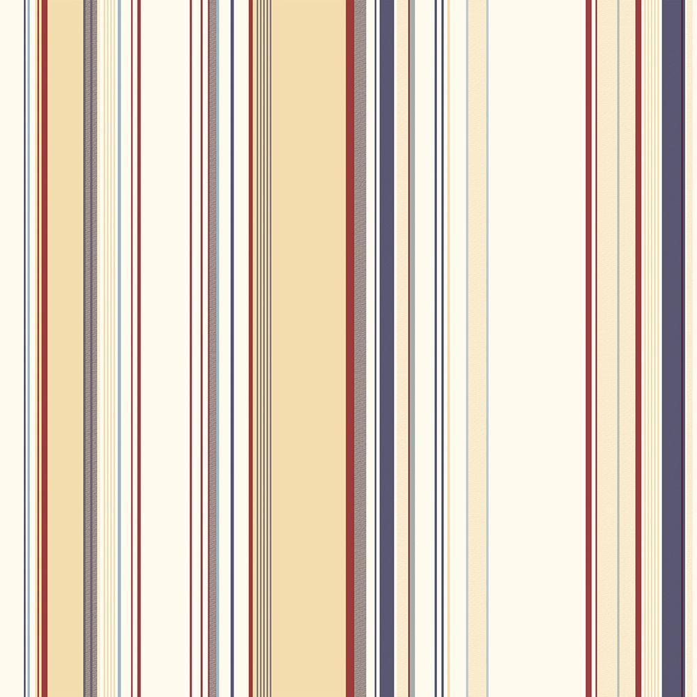 Lookout Navy Stripe Wallpaper Sample